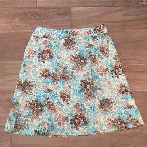 🔷BOGO🔷🆕 Talbots blue floral silk stretch skirt